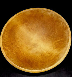 """Large 16.75"""" Antique Parrish HT Wood Dough Bread Bowl Made In Chicago USA Signed"""