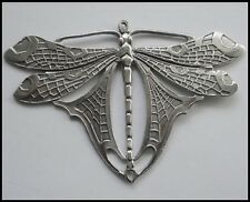 PEWTER CHARM #404 LARGE STUNNING DRAGONFLY (95mm x 64mm) 2 bail JOINER PENDANT