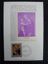 VATICAN MK 1971 MADONNA & CHRISTUS GEMÄLDE MAXIMUMKARTE MAXIMUM CARD MC CM a8781