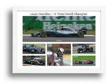 Signed Lewis Hamilton 2018 5 Time F1 World Champion Framed Christmas Gift Idea
