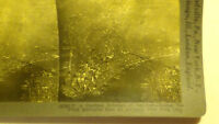 PHOTO STEREOVIEW NEW YORK CITY NY AREAL VIEW STREET BUILDINGS