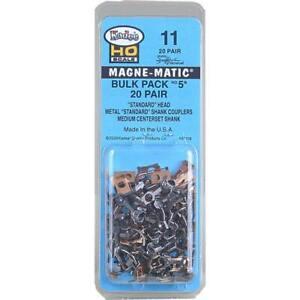 "Kadee 11 | Bulk Pack - 20 pair #5 (NO.5®) Metal Couplers - Medium (9/32"") Center"