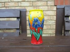Anita Harris Art Pottery blue flower vibrant colour vase