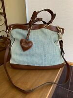 Gucci Bag Valentine Guccissima Gg Monogram Blue Denim Tote Shopper Shoulder Bag