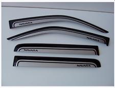 Wind Deflectors / Rain Guards Tinted-Silver Nissan Frontier-Navara D40 4D 05-13
