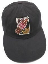 COCA-COLA -ALWAYS FEELS RIGHT! uncommon black adjustable cap / hat -100% cotton