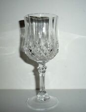 lot série de 6 verres a vin BLANC 12 cl , cristal d'arques , modèle : LONGCHAMP
