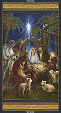 "24"" Fabric Panel - Christmas Religious Manger Nativity  - Timeless Treasures"