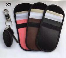 2xLock Car Key Keyless Entry Anti-Theft Fob Signal Blocker Pouch Faraday Bag New