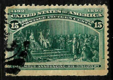 Sc #238 15 Cent Columbian 1893 US 70B11
