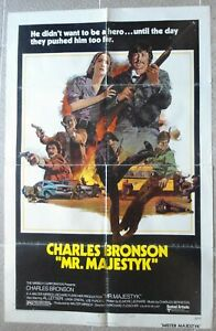 """MR. MAJESTIC One Sheet US Style B Movie Poster 27x41"""" Charles Bronson Film 1974"""