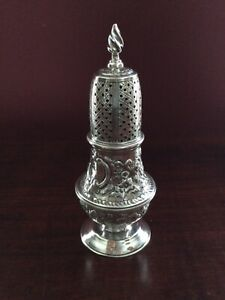 Antique American Coin Silver Caster, Harding, Newell, & Co., Boston, 1852-1862