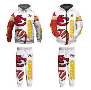 Kansas City Chiefs 2Pcs Jogging Suit Casual Tracksuit Sportswear Sweat Suit Set