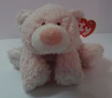 Ty Baby Pink Teddy Bear Love To Baby Cubby Cuddles 100% Tylux stuffed animal NWT