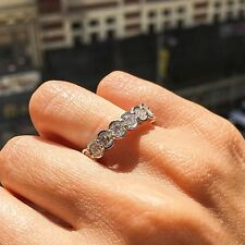 3.64CT 18K White Gold Round Diamond Bezel Set Eternity Ring, Eternity Band