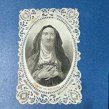 CANIVET Image Pieuse XIXè Mère De Douleurs HOLY CARD 19thC Santino