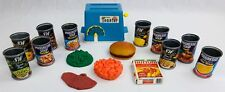 Vintage Kiddy-Matic Toy Appliance Toaster & Progresso Soup Can LOT Pretend Food