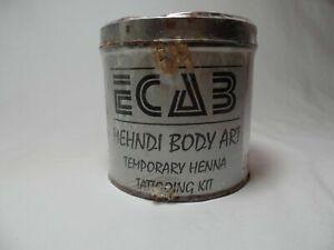 Vintage Ecab Mehendi Body Art Temporary Tattooing Kit