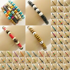 Bead Bracelet Wristband beaded boho surfer style mens ladies womens jewellery UK