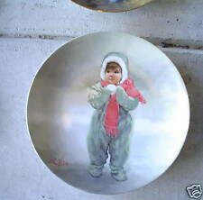 1984 Donald Zolan Collector Plate Winter Angel LOOK