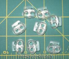25 ct mini clear frost bean cord lock toggle 2 hole frosted mfn
