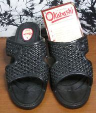 Okabashi Womens Black Slip On Wedge Heel Sandals Size Large 8 1/2 - 9 1/2