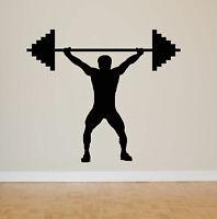 Wall Art Vinyl Room Decor Sticker Decal Mural Sport Gym Lifting Weight bo2232