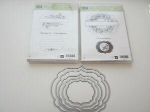 Stampin up Stempelset Framelits Apothecary Art Labels collection gebr. big shot