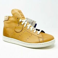 Adidas Stan Smith Mid PC Harween Leather Tan Brown F37615 Mens Sneakers
