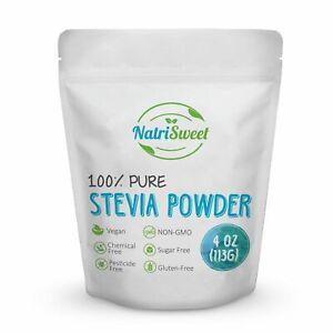 NatriSweet Stevia Powder 4 oz 100% Leaf Extract Natural Sweetener Non GMO