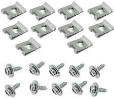 BMW Hex Head Metal Screw 10x Speed Nut 10x for undercar shield fender liner new