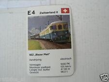 64-LOKS TREIN TRAIN E4 SEZ BLAUER PFEIL ZWITSERLAND SUISSE