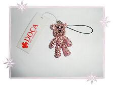 Bijou de Portable Fantaisie Ours Rose Articulé Strass Doca Fashion Jewelry