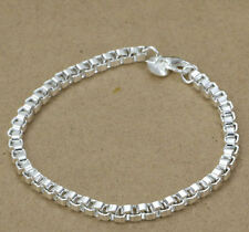 Silver square snake chain Bracelet 925 Stamped Ladies Jewellery bangle womens UK