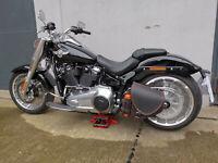 Harley Davidson Satteltasche DIABLO BLACK ORANGE Limited Edition Schwinge HD