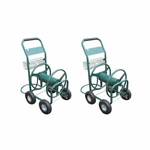 Liberty Garden Products 4 Wheel Hose Reel Cart Holds up to 350 Feet (2 Pack)