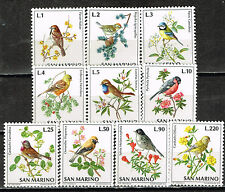 San Marino Fauna Birds and Flowers set 1973 MLH