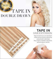 Invisible Tape In Full Head European 100% Human Remy Hair Extensions 60PC CD3D
