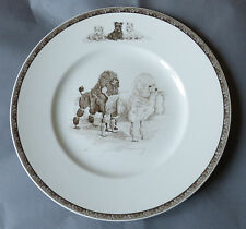Poodles Vintage Wedgwood Marguerite Kirmse Plate Made In England