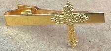 Holy Cross Tie Bar Fix Clip Religious Christian Symbol Clasp