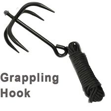 NINJA CLIMBING Grappling Hook Tree Wall Claw Gear Steel Equipment Rope