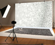 Abstract Glitter Spark Silver Photo Backdrop 10x6.5' Background Photography Prop