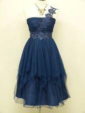Cherlone Blue Prom Ball Evening Bridesmaid Formal Knee Length Dress Size 16-18