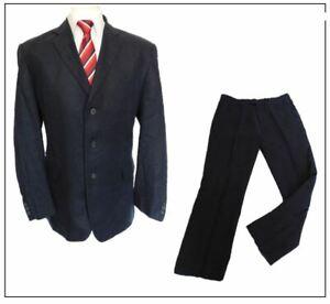 "Debenhams Linen 2 piece mens suit Ch44""S W36"" L31"" Navy  Summer"