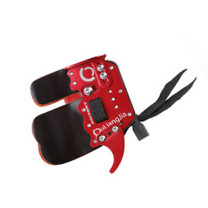 Red Archery 3 Finger Tab Guard Bow Protector Gloves Gear Cow Leather Right Hand