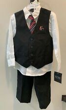 Boys 4 Piece Suit Set TFW Formal Vest Tie Pants Size 4T nwt