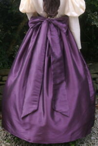 Ladies Victorian / Edwardian costume skirt & sash gentry / ball gown skirt(aube)