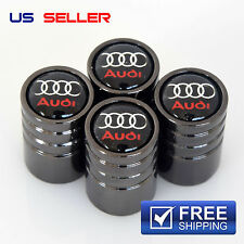 AUDI VALVE STEM CAPS BLACK WHEEL TIRE - US SELLER VE23