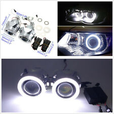 "2 X 2.5"" Car Headlights HID Xenon Projector Lens H1/H4/H7 Light Guide Angel Eyes"