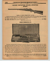 1927 PAPER AD Savage Combination Rifle Kit Carry Case .303 30/30 Carbines